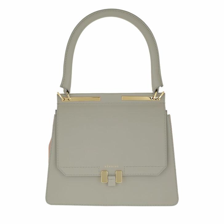 Handtasche, Maison Hēroïne, Marlene Tablet Handle Bag Grey/Pastello Rosé/Gold