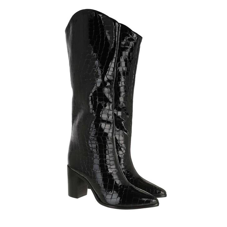 shoes, Schutz, High Long Boots Black