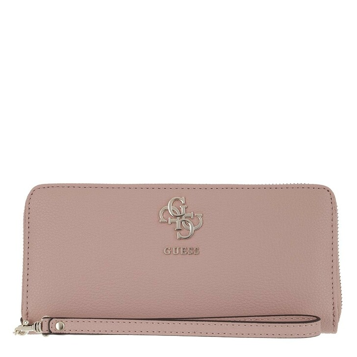 wallets, Guess, Digital Wallet Large Zip Around Dark Nude