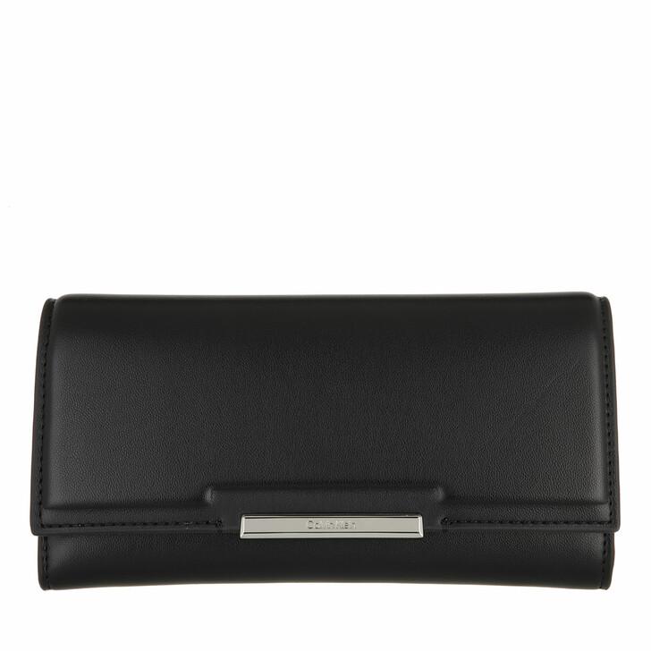wallets, Calvin Klein, Focused Trifold Large CK Black