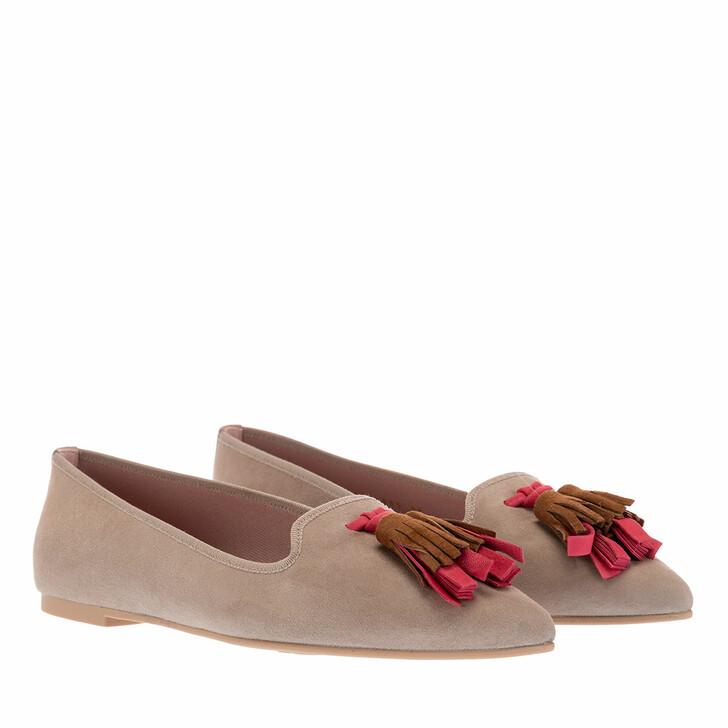Schuh, Pretty Ballerinas, Ella Ballerina Shoes Beige Multicolour Tassel