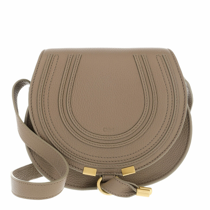 bags, Chloé, Small Marcie Shoulder Bag Grained Leather