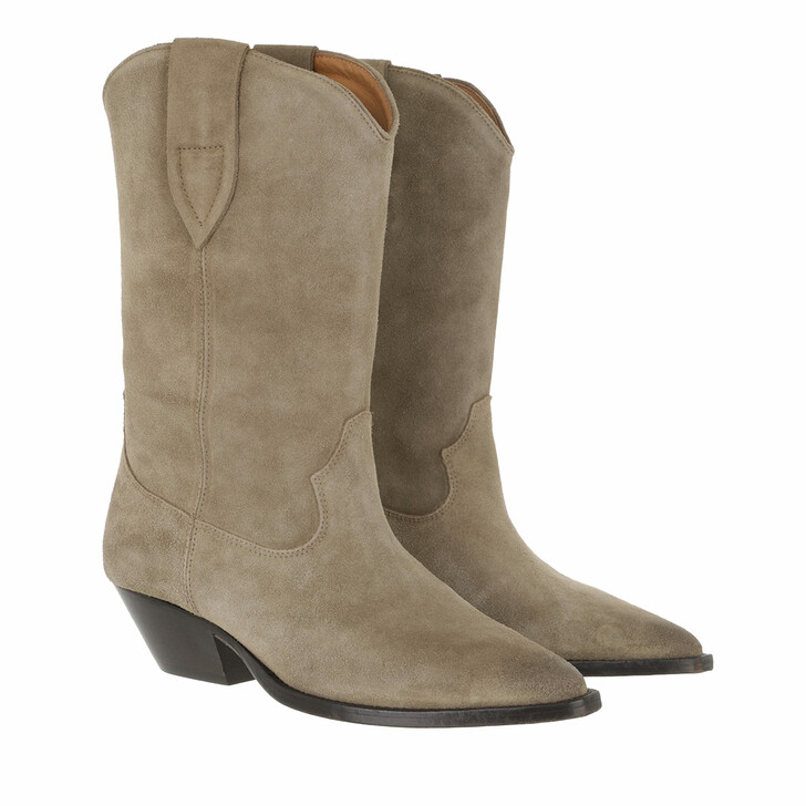 shoes, Isabel Marant, Duerto Boots Suede Leather Taupe