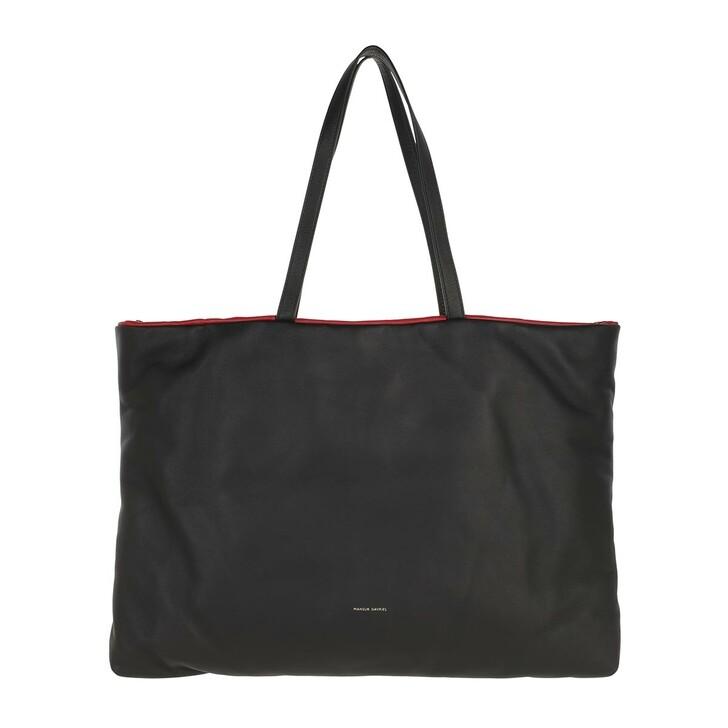 Handtasche, Mansur Gavriel, Pillow Reversible Tote Bag Leather Black/Flamma