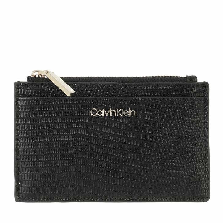 wallets, Calvin Klein, CK Must Cardholder Large Lizard CK Black