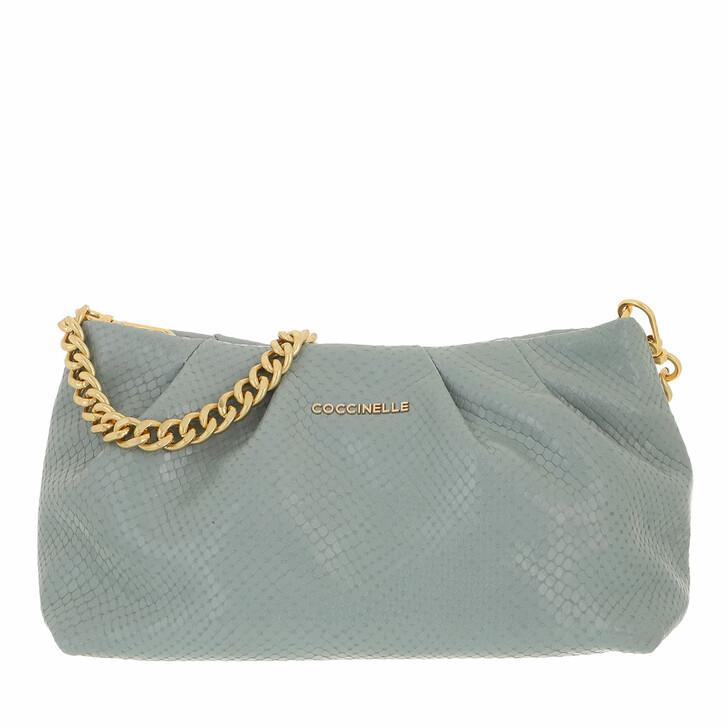 bags, Coccinelle, Ophelie Handbag Snake Leather  Cloud