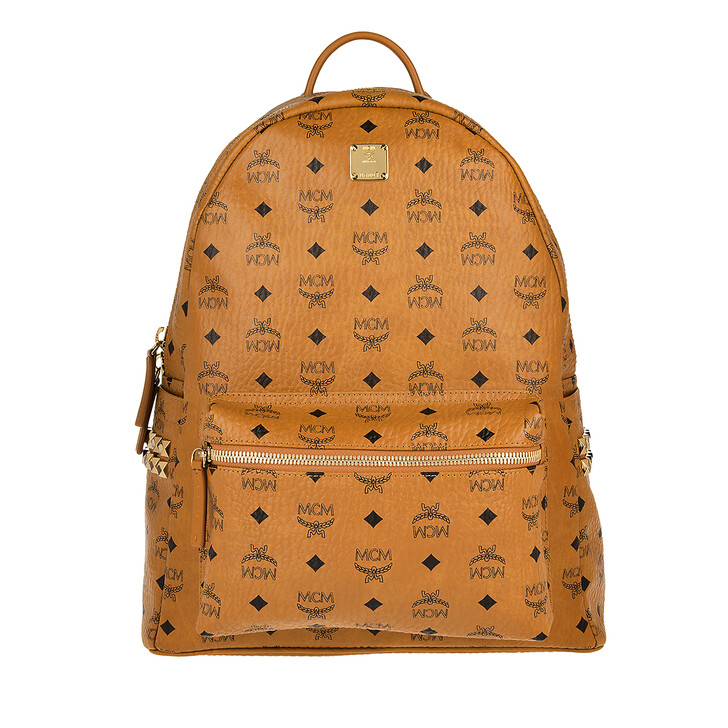 Reisetasche, MCM, Stark Backpack Medium   Cognac