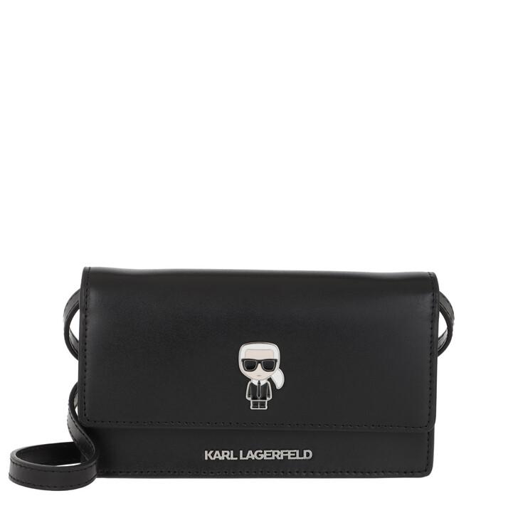 Handtasche, Karl Lagerfeld, Ikonik Pin Black