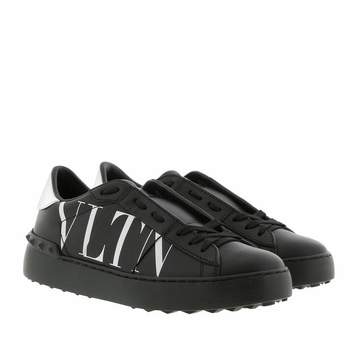 Schuh, Valentino, Rockstud VLTN Open Sneakers Black