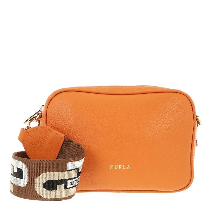 Handtasche, Furla, Furla Real Mini Camera Case Mandarino