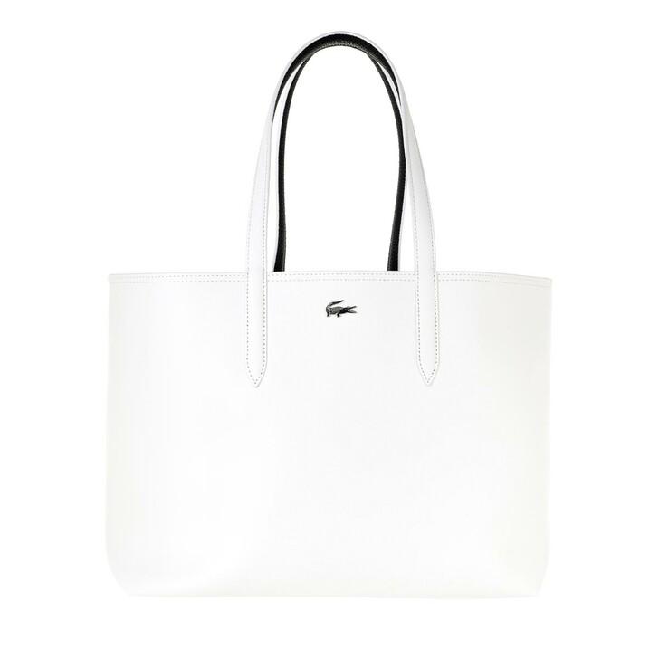 Handtasche, Lacoste, Anna Shopping Bag Blanc Noir