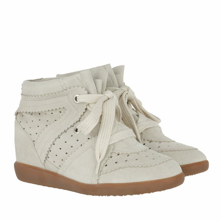 shoes, Isabel Marant, Bobby Sneaker Velvet Stainer Basket Chalk