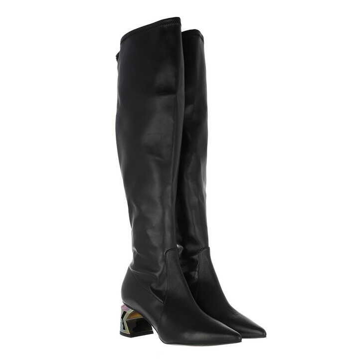 shoes, Karl Lagerfeld, K-BLOK Knee Boot Black PU