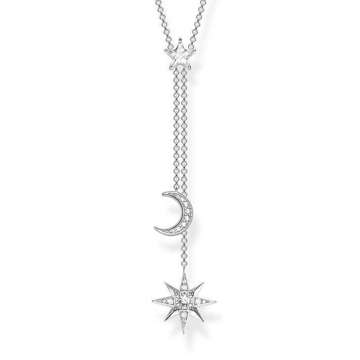 necklaces, Thomas Sabo, Necklace Moon Stars Silver