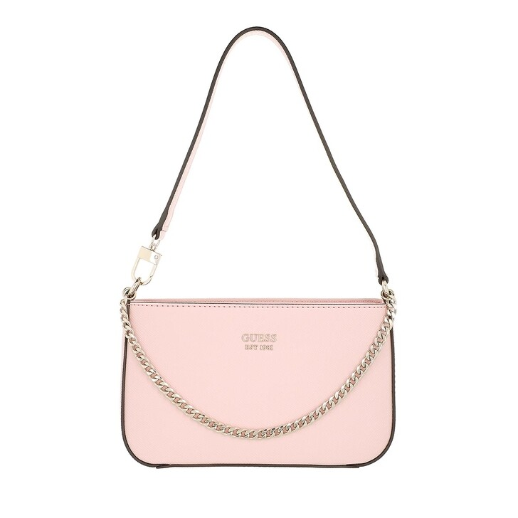 bags, Guess, Katey Mini Top Zip Shoulder Rose