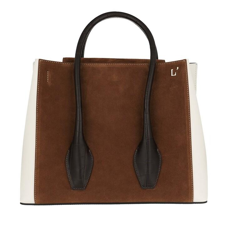 Handtasche, L´Autre Chose, Tote Bag Cognac/Dust Grey/Black