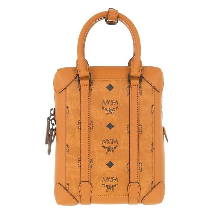 Handtasche, MCM, Small Soft Berlin Visetos Crossbody Bag Cognac
