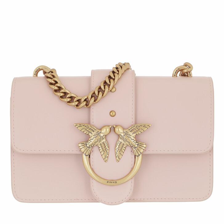 bags, Pinko, Love Mini Icon Simply 10 Cl Vi Rosa Polvere Rosa