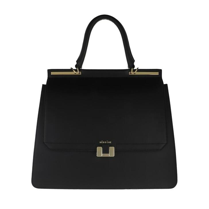"bags, Maison Hēroïne, Marlene 15"" Handle Bag Black Lavagna"