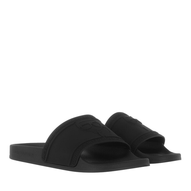Schuh, Karl Lagerfeld, KONDO Karl Ikonic Relief Black Rubber