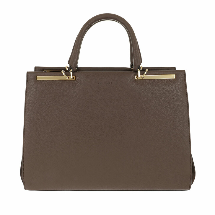 "Handtasche, Maison Hēroïne, Claire 13"" Handle Bag Brown/Brown/Gold"