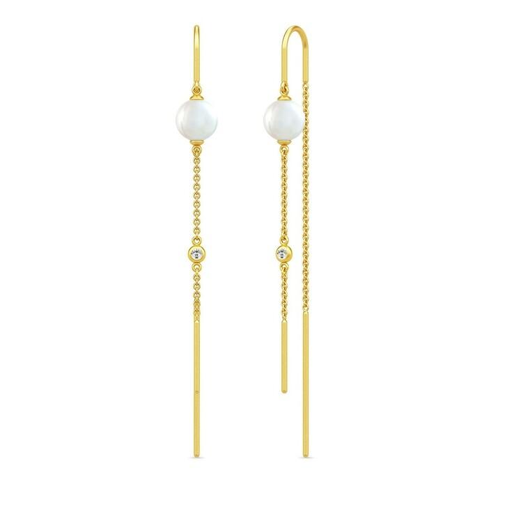 earrings, Julie Sandlau, Ariel Earrings White Pearl