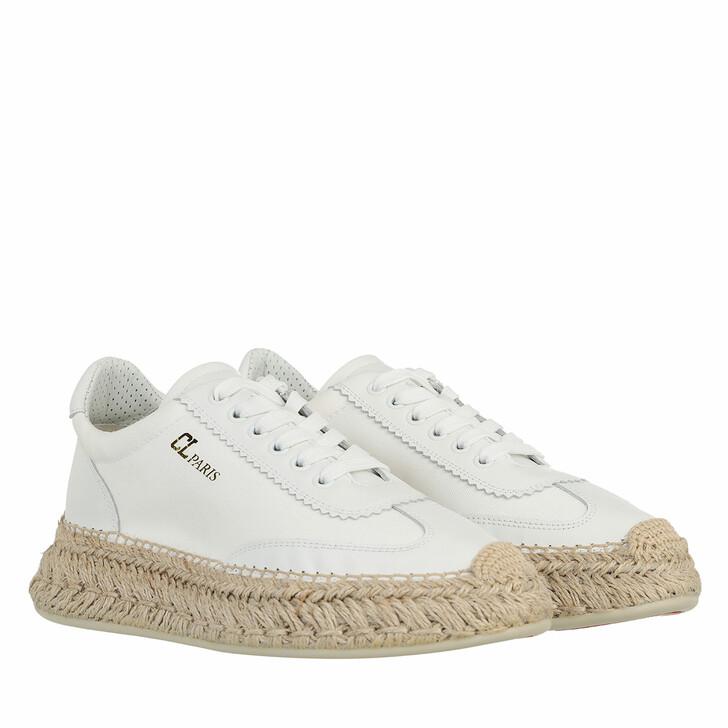 shoes, Christian Louboutin, Espasneak Flat Braided Espadrille White