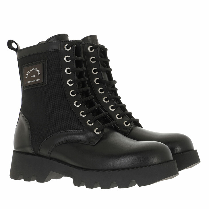 shoes, Karl Lagerfeld, TERRA FIRMA High Lace Boot Black Leather