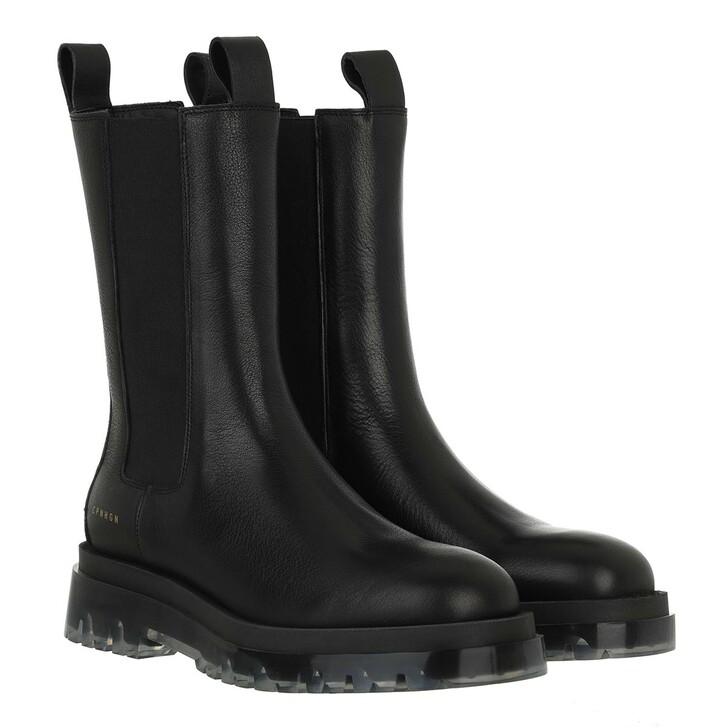 shoes, Copenhagen, CPH1000 Boot Calf Leather Black/Clear
