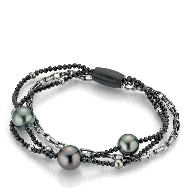 bracelets, Gellner Urban, Bracelet Spinell Tahiti Pearls Silver/Black