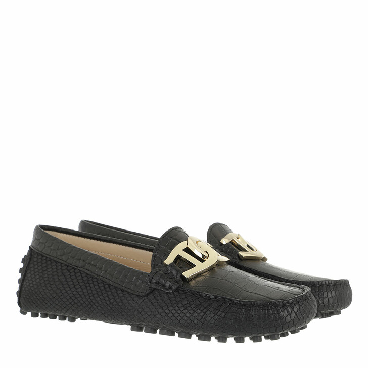Schuh, AIGNER, Anna Moccassin Black