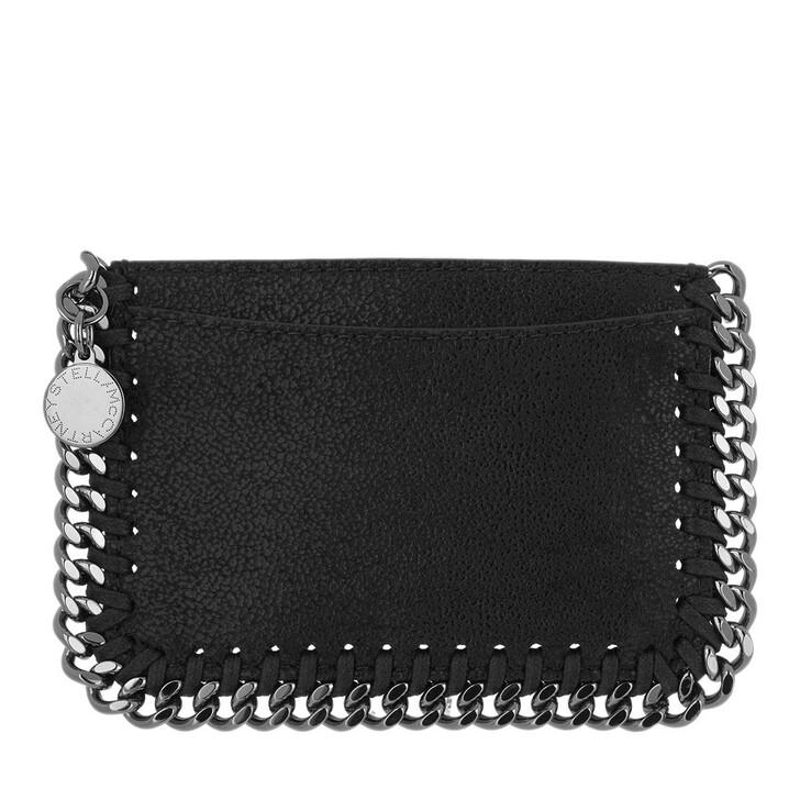 wallets, Stella McCartney, Falabella Card Case Slate Grey