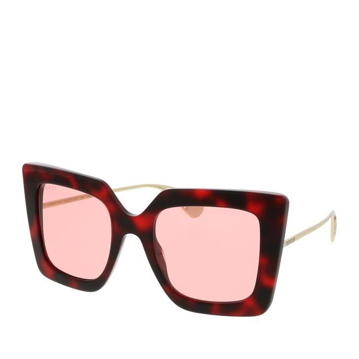 Sonnenbrille, Gucci, GG0435S-005 51 Sunglass WOMAN ACETATE HAVANA