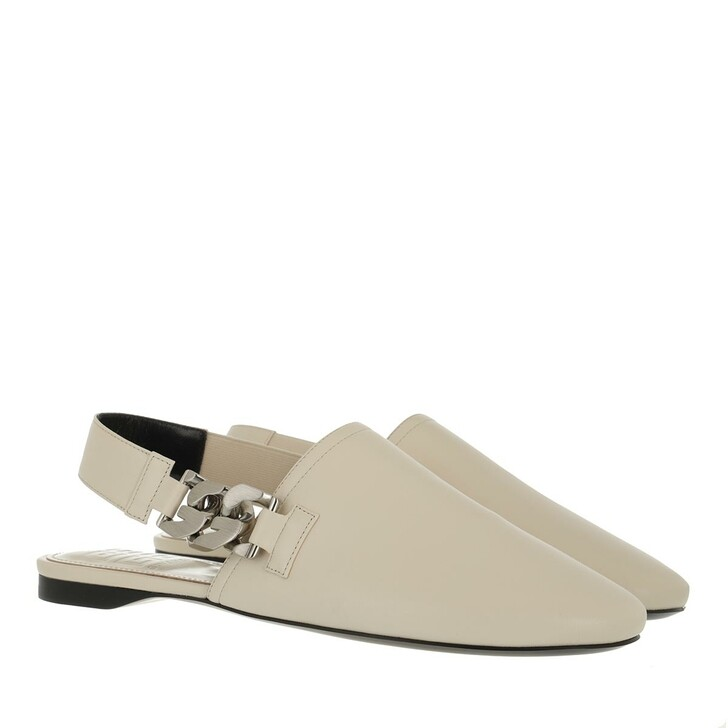 shoes, Givenchy, G Mules White