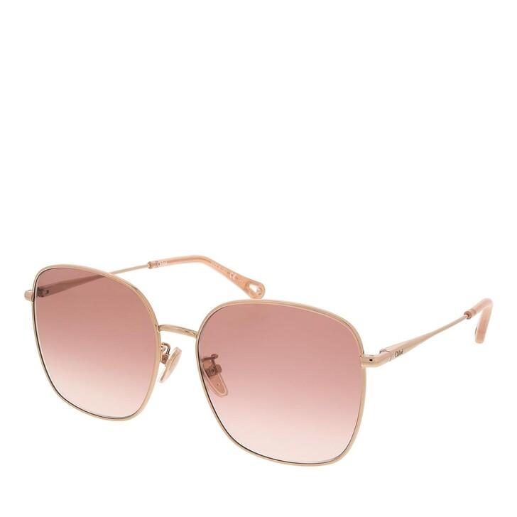 sunglasses, Chloé, CH0076SK-002 58 Sunglass Woman Metal Gold-Gold-Orange