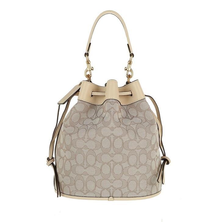 Handtasche, Coach, Signature Jacquard Field Bucket Bag B4/Stone Ivory