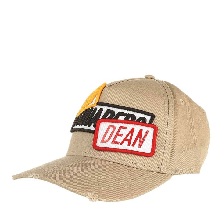 hats, Dsquared2, Dan And Dean Embroidered Baseball Cap Beige