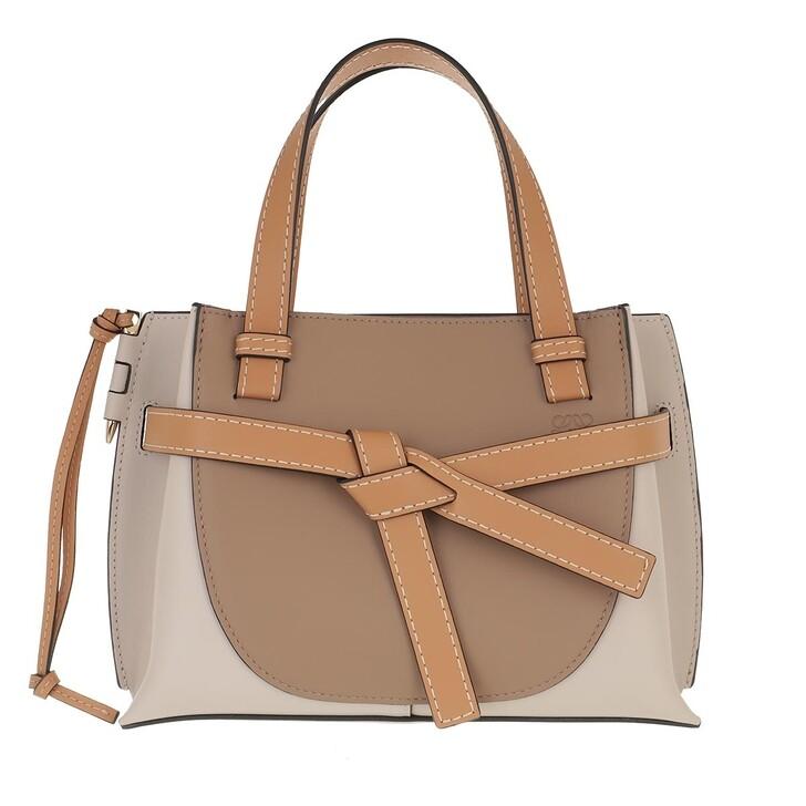 Handtasche, Loewe, Mini Gate Top Handle Bag Soft Calfskin Mink Light Oat
