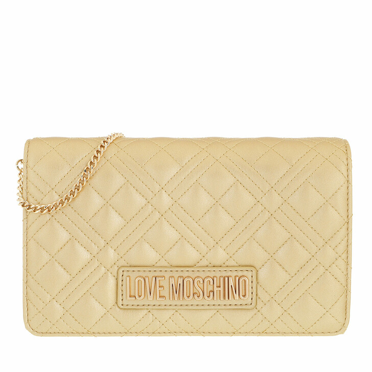 bags, Love Moschino, Borsa Quilted  Pu Oro