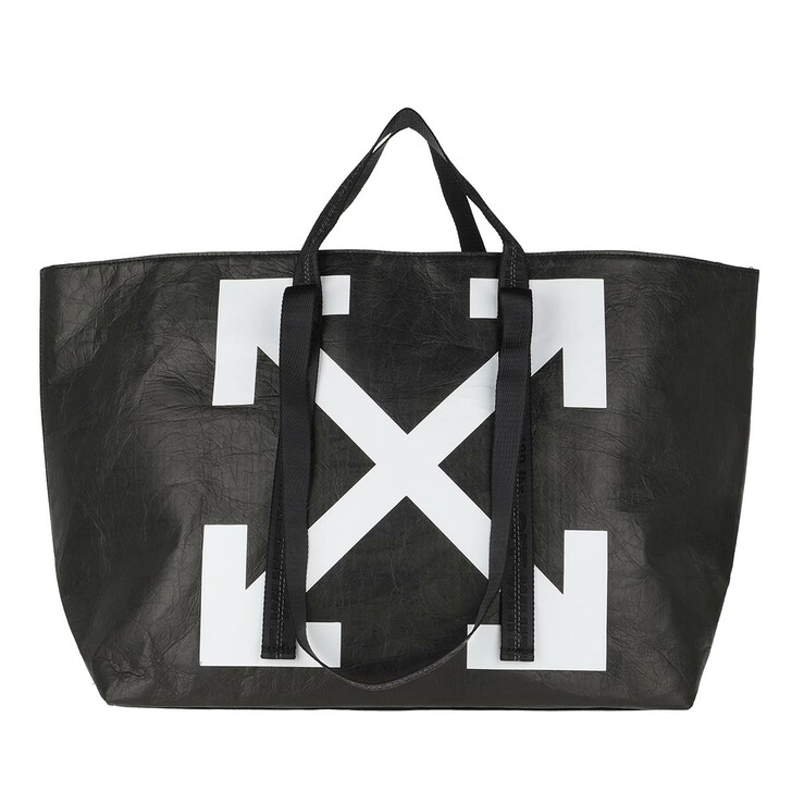 bags, Off-White, Wrinkled Commercial Tote Black White