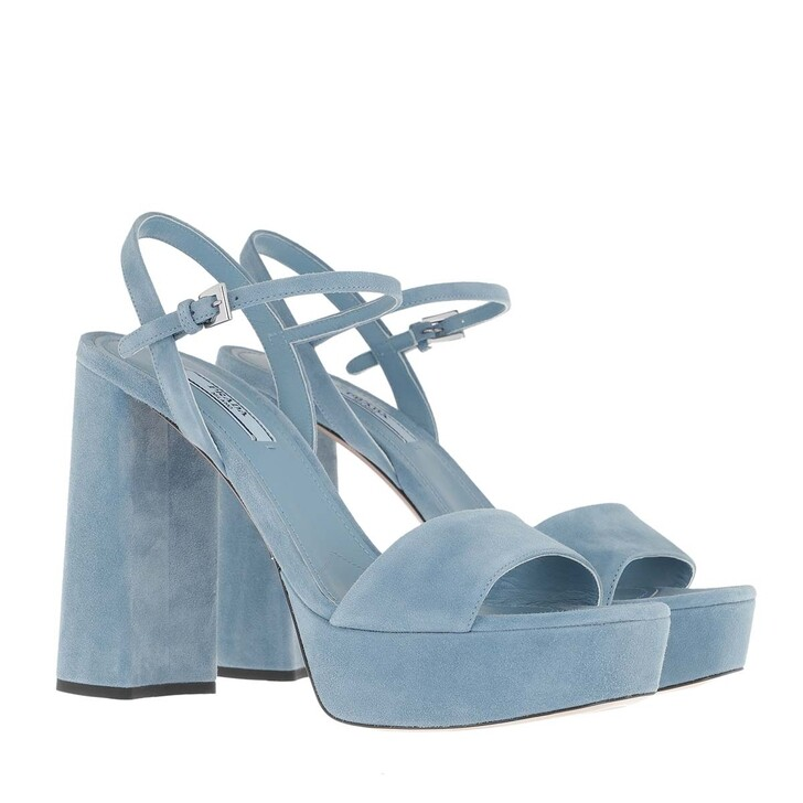Schuh, Prada, Plain Block Sandals Suede Astrale