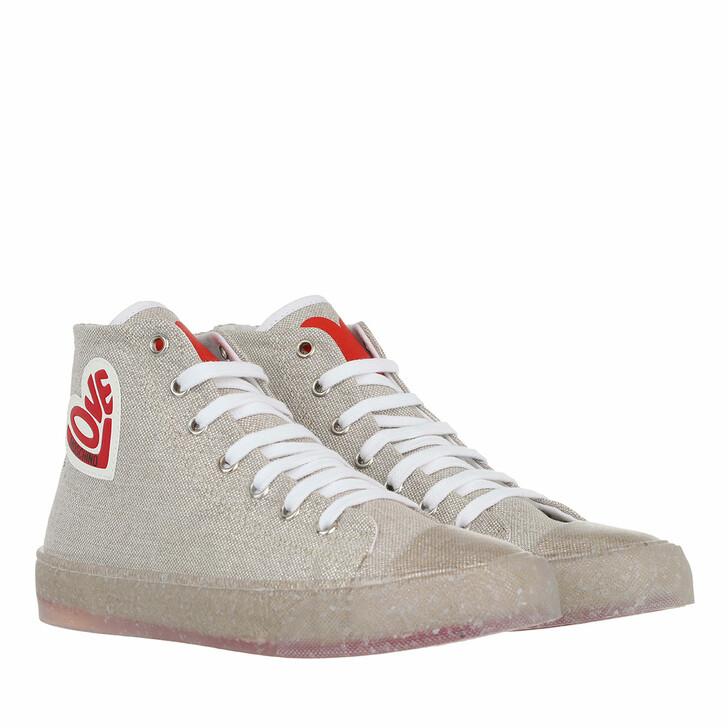 shoes, Love Moschino, Sneakerd Eco30 Lurex  Argento