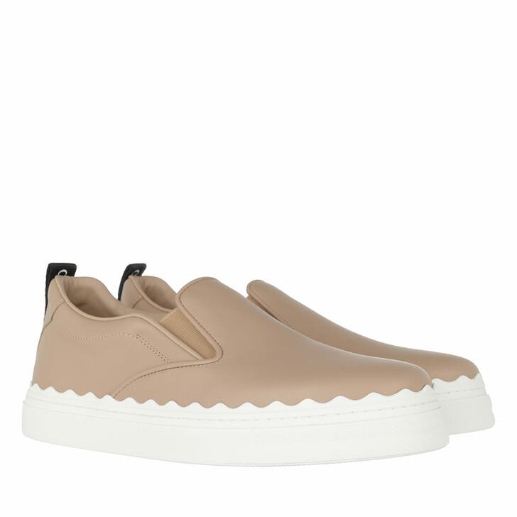 shoes, Chloé, Lauren Slip On Sneaker Leather Pink Tea