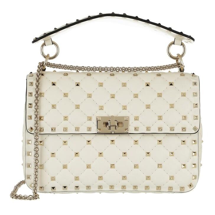 bags, Valentino Garavani, Rockstud Spike Medium Crossbody Bag Ivory