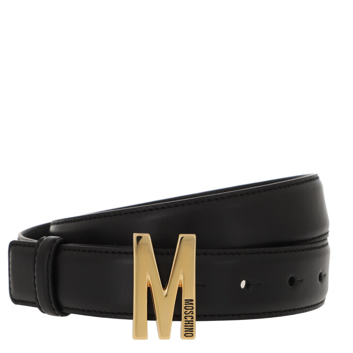 Gürtel, Moschino, Matt Leather Belt Black