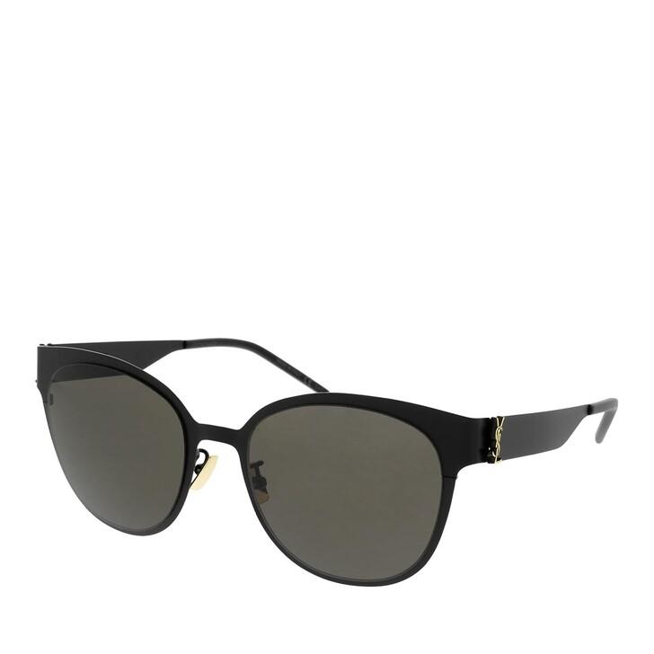 Sonnenbrille, Saint Laurent, SL M42-008 56 Sunglass WOMAN METAL BLACK