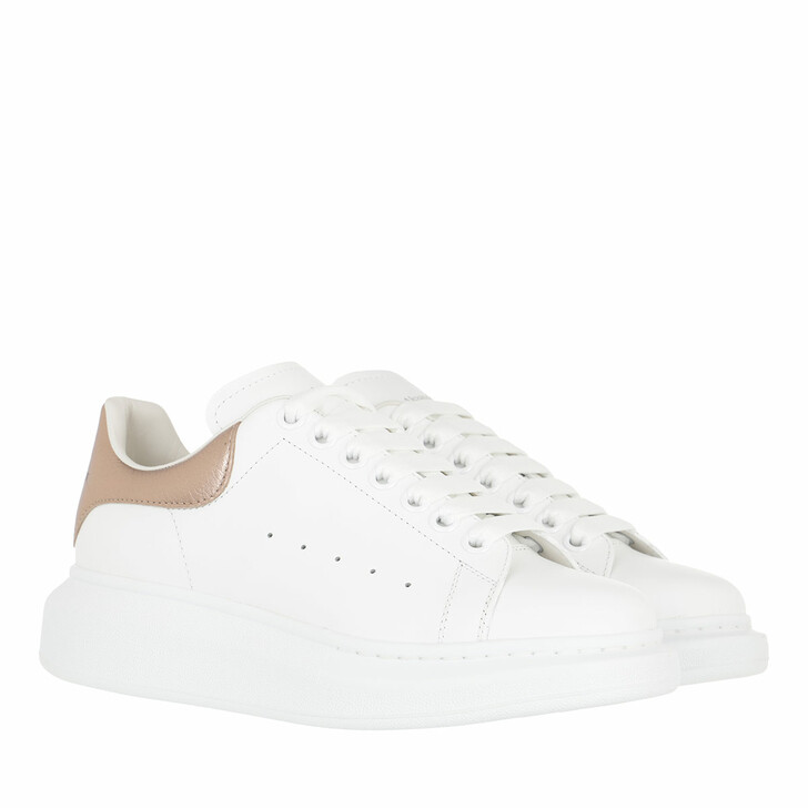 shoes, Alexander McQueen, Oversized Low Top Sneakers White/Rose