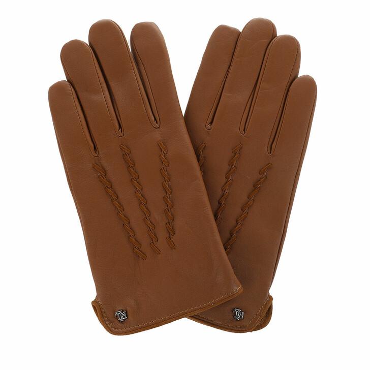gloves, Lauren Ralph Lauren, Glove Leather Cuoio