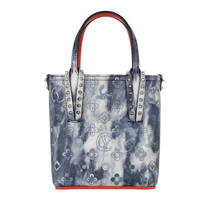 Handtasche, Christian Louboutin, Mini Tote Bag Cabata Denim/Multi