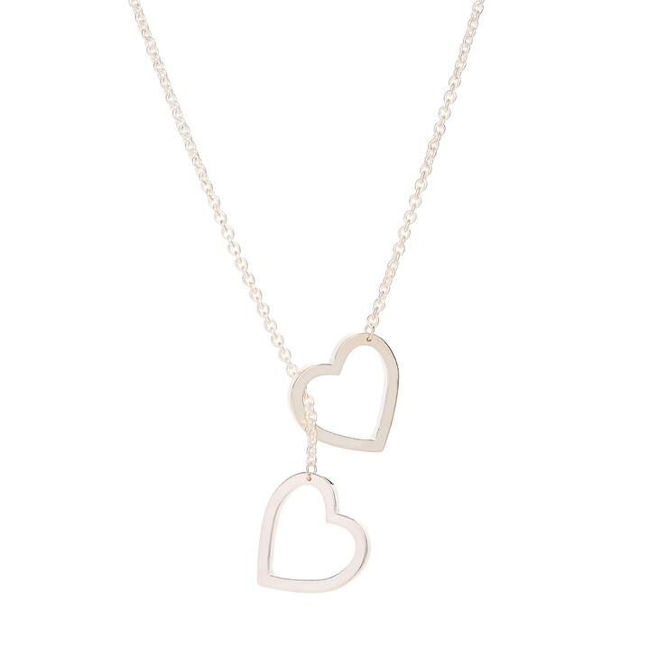 necklaces, Saskia Diez, Necklace LS HEARTS Lasso Silver